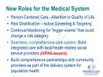 new roles for the medical system