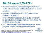 rwjf survey of 1 000 pcps