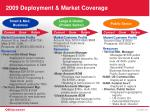 2009 deployment market coverage