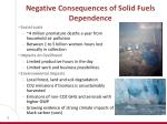 negative consequences of solid fuels dependence