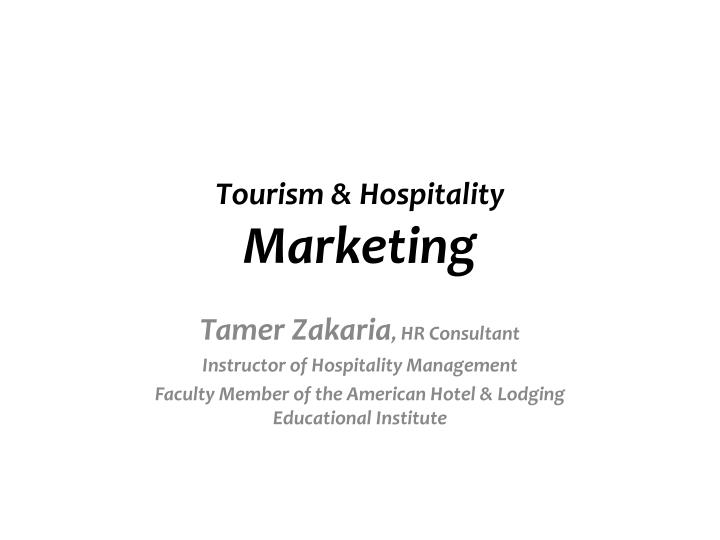 tourism hospitality marketing n.