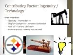 contributing factor ingenuity technology1