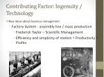 contributing factor ingenuity technology2