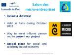 salon des micro entreprises