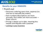 benefits for your vendors