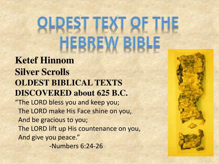 Oldest text of the