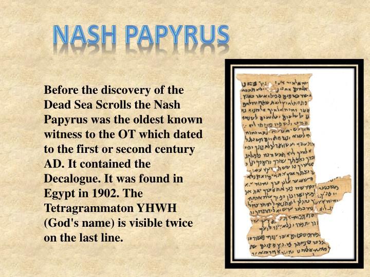 Nash Papyrus