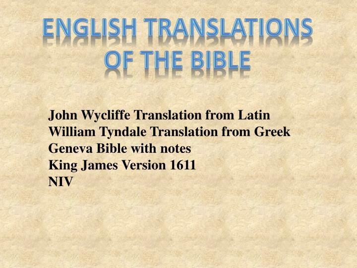 English Translations