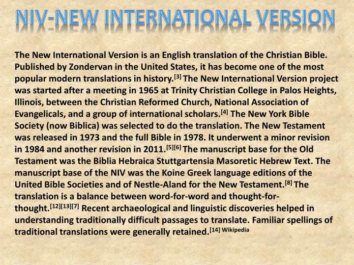NIV-New International Version