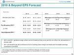 2010 beyond eps forecast