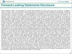 forward looking statements disclosure
