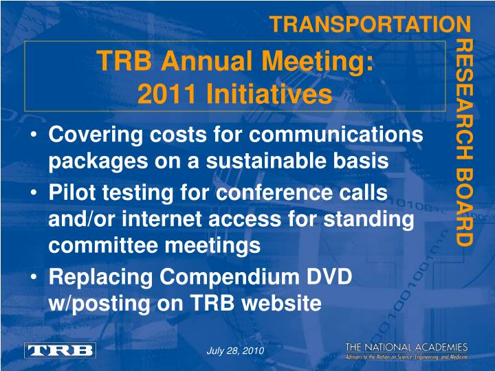 trb annual meeting online Participating from a distance bringing the trb annual meeting home to the washington state department of transportation leni oman director office of research & library services.