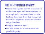 srp 3 literature review