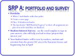 srp a portfolio and survey