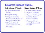 tuscarora science tracks