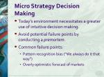 micro strategy decision making