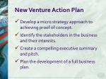 new venture action plan