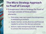 the micro strategy approach to proof of concept