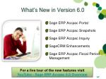 what s new in version 6 0