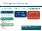 what you should prepare