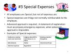 3 special expenses