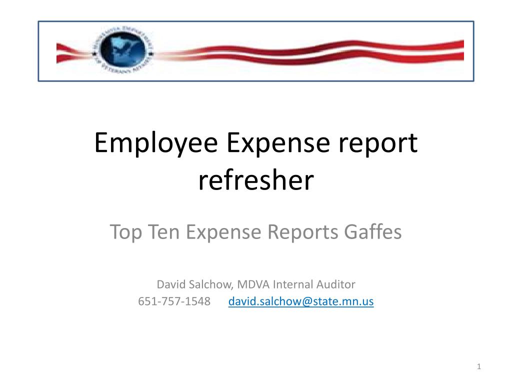 ppt employee expense report refresher powerpoint presentation id
