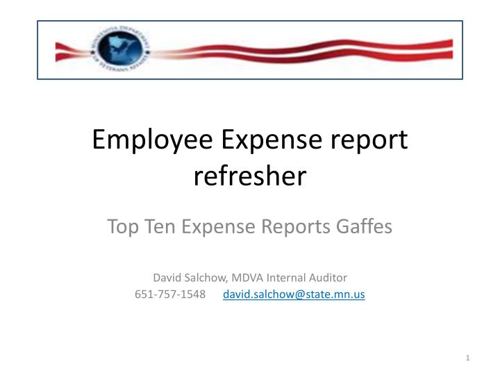 employee expense report refresher n.