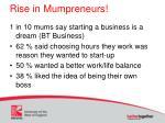 rise in mumpreneurs