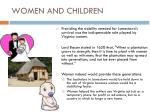 women and children