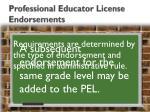 professional educator license endorsements1