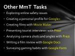 other mmt tasks