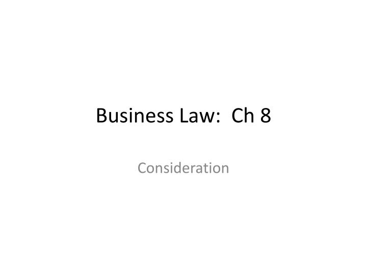 business law ch 8 n.