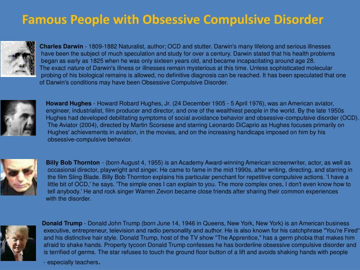 a study of obsessive compulsive disorder ocd For the most part, obsessive compulsive disorder (ocd) is generally caused by two things - a shameful identity usually stemming from something shameful or a certain sin in the person's past - bondage to fear quite possibly caused by a spirit of fear a shameful identity shame plays a big role in obsessive compulsive disorder (ocd.