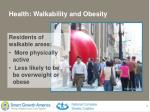 health walkability and obesity
