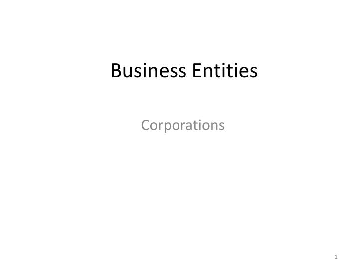 business entities n.