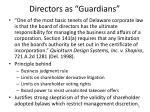 directors as guardians