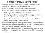 fiduciary duty voting rules