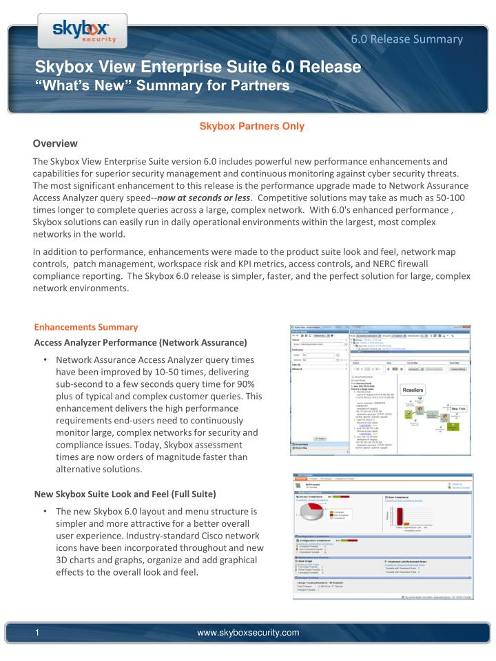 skybox view enterprise suite 6 0 release what s new summary for partners n.