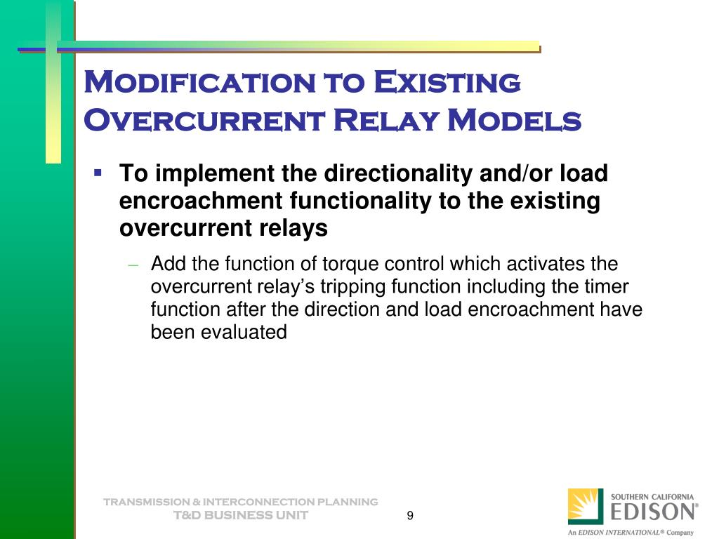 PPT - Directional Overcurrent Relay Specification PowerPoint