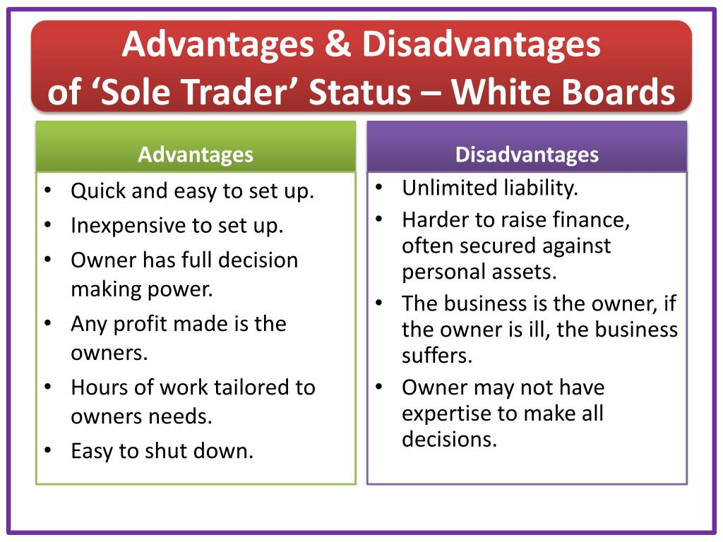 advantages of sole trader business
