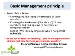 basic management principle