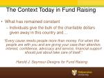 the context today in fund raising1