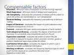 compensable factors