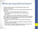what are essential functions