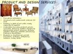 product and design services
