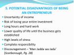 5 potential disadvantages of being an entrepreneur