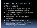 invention innovation and entrepreneurs