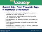 current jobs from wisconsin dept of workforce development