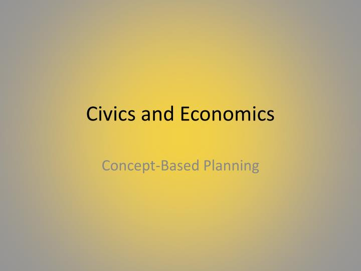 civics and economics n.