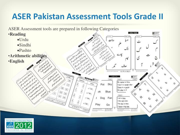 ASER Pakistan Assessment Tools Grade II
